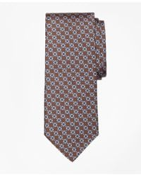 Brooks Brothers - Brown Diamond Link Print Tie for Men - Lyst