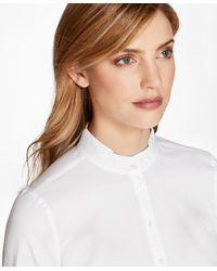Brooks Brothers - White Non-iron Dobby-stripe Cotton Tunic - Lyst