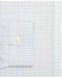 Brooks Brothers - Blue Madison Classic-fit Dress Shirt, Non-iron Alternating Check for Men - Lyst