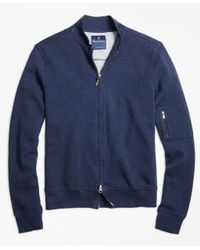 Brooks Brothers   Blue Cotton Bomber for Men   Lyst