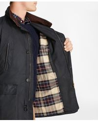 Brooks Brothers - Blue Waxed Cotton Country Coat for Men - Lyst