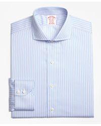 Brooks Brothers - Blue Madison Classic-fit Dress Shirt, Non-iron Split Stripe for Men - Lyst