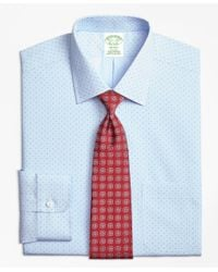 Brooks Brothers - Blue Milano Slim-fit Dress Shirt, Non-iron Hairline Pine for Men - Lyst