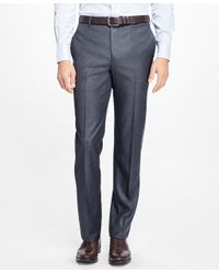 Brooks Brothers - Blue Regent Fit Stretch Wool Trousers for Men - Lyst