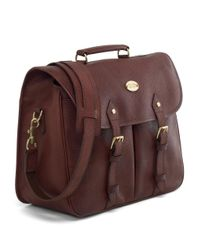 Brooks Brothers - Multicolor Football Leather Briefcase for Men - Lyst