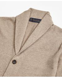 Brooks Brothers - Natural Two-ply Cashmere Shawl Collar Cardigan for Men - Lyst