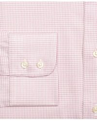 Brooks Brothers Pink Madison Classic-fit Dress Shirt, Framed Check for men