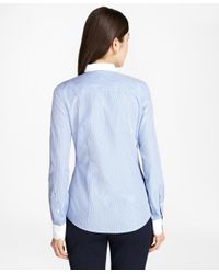 Brooks Brothers - Blue Non-iron Dobby-stripe Tailored Shirt - Lyst