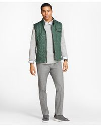 Brooks Brothers - Green Diamond-quilted Vest for Men - Lyst