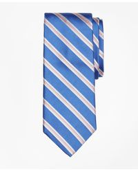 Brooks Brothers - Blue Alternating Rope Stripe Tie for Men - Lyst