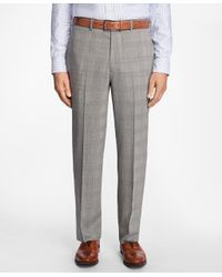 Brooks Brothers - Multicolor Madison Fit Brookscool® Glen Plaid Trousers for Men - Lyst