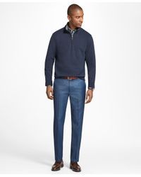 Brooks Brothers - Blue Milano Fit Wool Trousers for Men - Lyst