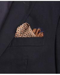 Brooks Brothers - Brown Flower Medallion Pocket Square for Men - Lyst