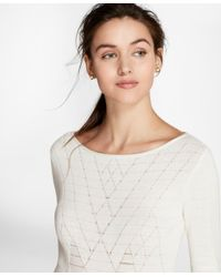 Brooks Brothers - White Argyle Cotton-blend Sweater - Lyst