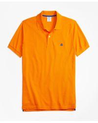 Brooks Brothers | Orange Slim Fit Supima® Cotton Performance Polo Shirt for Men | Lyst