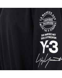 Y-3 - Black Left Sleeve Detailed Sweatshirt for Men - Lyst