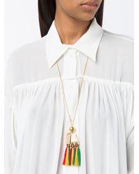 Chloé - Metallic Janis Pendant Necklace - Lyst