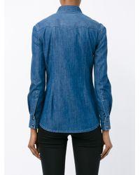 Dolce & Gabbana   Blue Denim Long Sleeved Shirt   Lyst