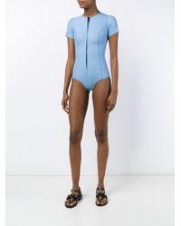 Lisa Marie Fernandez - Blue Farrah Bonded Denim Swimsuit - Lyst