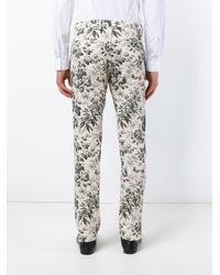 Gucci - Gray Tailored Floral Print Trousers - Lyst