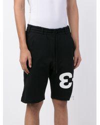 Y-3 - Black Logo Sweatshorts for Men - Lyst