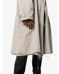 Balenciaga - Natural Beige Cotton Trench Coat for Men - Lyst