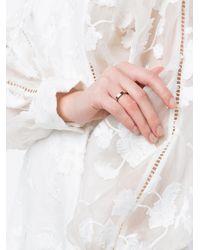 Kim Mee Hye - Metallic Twisted Black Diamond Ring - Lyst