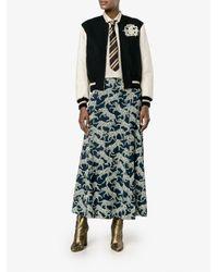 Dries Van Noten - Black Animals Print Straight Skirt - Lyst