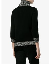 Moncler - Multicolor Ribbed Roll Neck Jumper - Lyst
