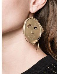 J.W.Anderson - Metallic Moon Face Earrings - Lyst