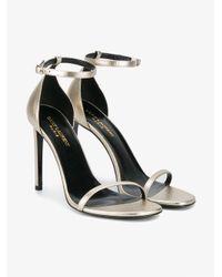 Saint Laurent - Black Jane 105 Sandals - Lyst