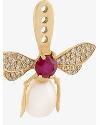 Yvonne Léon - Metallic Diamond Bee Lobe Earring - Lyst
