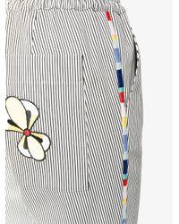 Mira Mikati - Black Embroidered Stripe Track Pants - Lyst