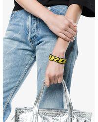 Balenciaga - Multicolor Turbo Badge Bracelet - Lyst