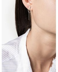 Lizzie Mandler | Metallic Chevron Thread Diamond Earrings | Lyst