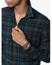 M. Cohen - Black Knotted Bead Wrap Bracelet for Men - Lyst