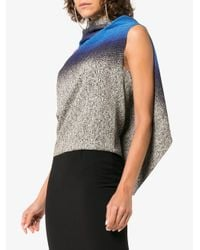 Roland Mouret - Blue Eugene Degrade Drape Back Top - Lyst