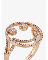 Rosa De La Cruz - Metallic Rose Gold And Diamond Smile Ring - Lyst