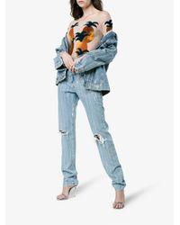 Alexia Hentsch - Blue Silk Pineapple Appliqué Bodysuit - Lyst