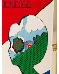 Olympia Le-Tan Multicolor Embroidered Normal Alien Book Clutch