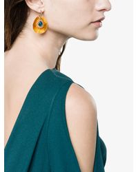 Katerina Makriyianni - Multicolor Yellow Fringed Gold Vermeil Apatite Earrings - Lyst