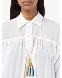 Chloé - Blue Multi Janis Pendant Necklace - Lyst
