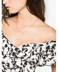 Rosa De La Cruz - Gray 18k Rose Gold Large Eternity Diamond Necklace - Lyst