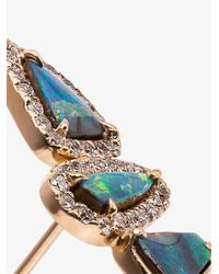 Kimberly Mcdonald Metallic Blue And Gold Opal And Diamond Earrings