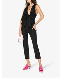 Jacquemus - Black High Waisted Skinny Cropped Trousers - Lyst