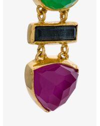 Katerina Makriyianni - Multicolor Gemstone Drop Earrings - Lyst