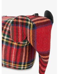 Loewe - White Red Elephant Mini Tartan Bag - Lyst