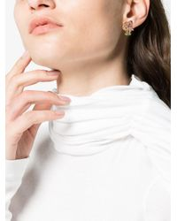 Yvonne Léon - Metallic 18k Gold Flamingo Earring With Gems - Lyst