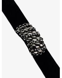 DANNIJO - Black Edrick Chain Bar Choker - Lyst