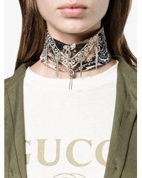 DANNIJO - Black Printed Bandana Necklace - Lyst